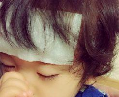 突発性発疹で熱の症状がある赤ちゃん