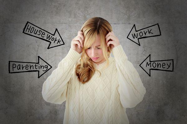 ストレスを感じる大人の女性