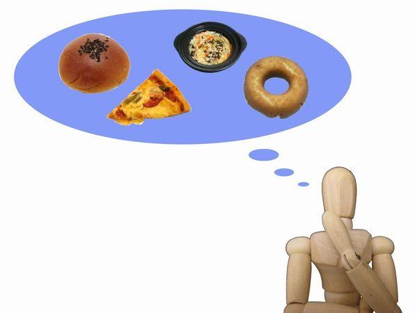 食事について考える人